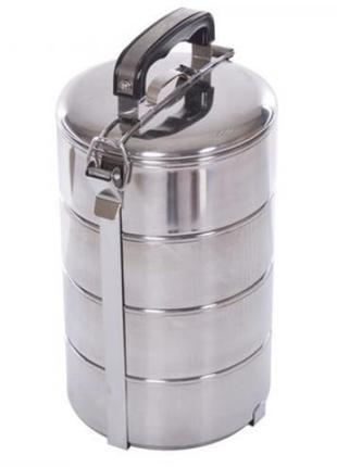 Пищевой контейнер 4 шт набор Нержавейка