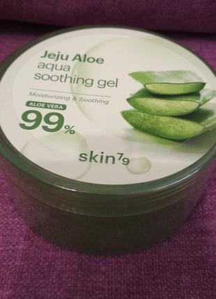 Универсальный гель c алоэ skin79 jeju aloe aqua soothing gel 3...