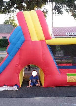 Happy Hop игровой центр Мега-горка надувной батут надувная горка