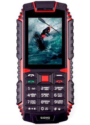Мобильный телефон Sigma X-treme DT68 Black Red. Гарантия