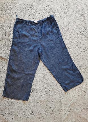 Брюки льняные monsoon, брюки батал, большой размер, брюки летние