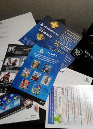Оригинальный буклет от игры Sony Playstation PS Vita в коллекцию
