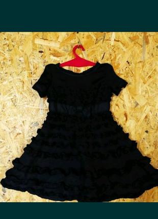 Маленькое чёрное платье для девочки + сумочки