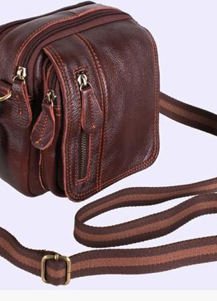 Мужская кожаная сумка премиум качество