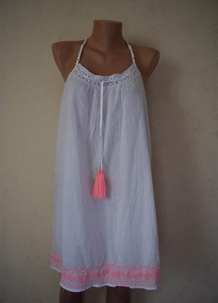 Новое домашнее платье ночнушка с вышивкой marks & spencer