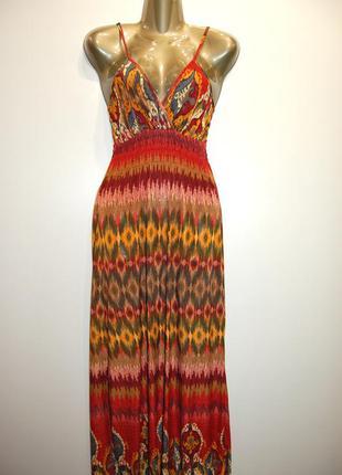 Летний длинный сарафан, платье в пол