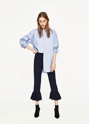 Укороченные брюки кюлоты женские m zara