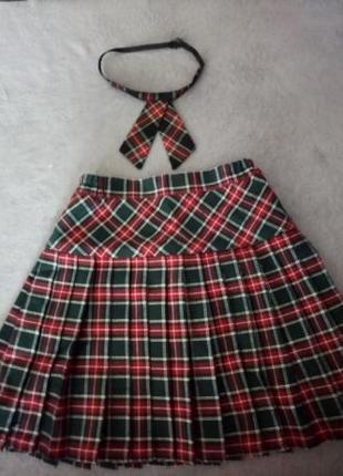 Школьная юбка на девочку 6-7 лет