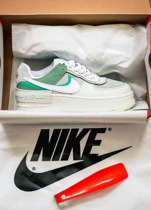 Кроссовки nike air force shadow green mint