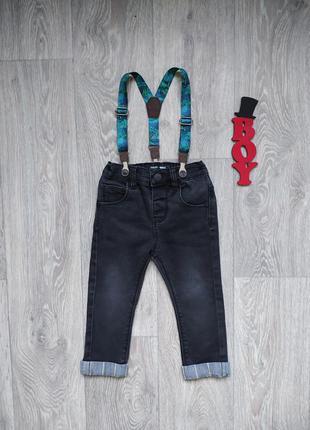 12-18 мес, джинсы с подтяжками next.