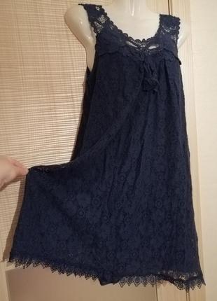 Хлопковое ажурное кружевное платье свободного кроя lily lin