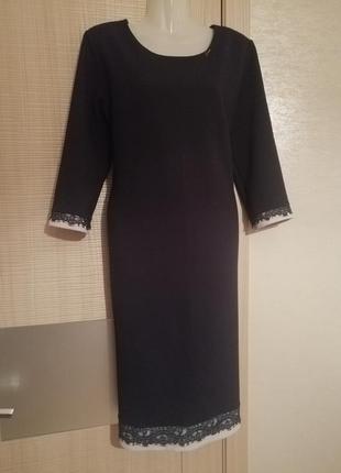 Турция. элегантное очень красивое вафельное платье миди с отде...