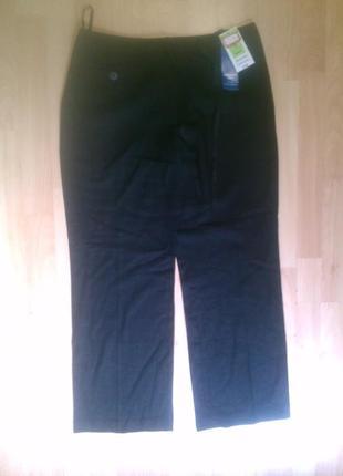 Фирменные полульняные брюки штаны