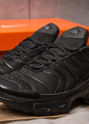 Мужские кроссовки nike air max tn (черные)