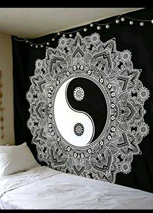 Декоративное панно инь-Ян,индийский текстиль