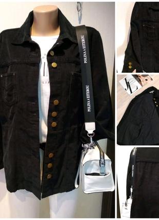 Отличная вельветовая черная куртка пиджак жакет блейзер кардиган