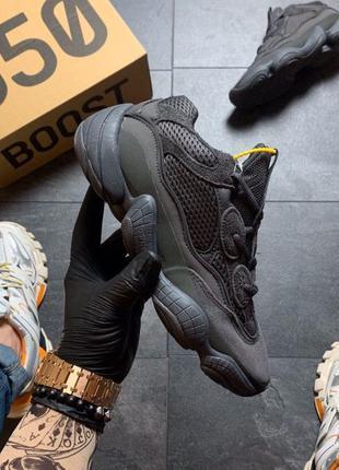 Унисекс кроссовки Adidas Yeezy Boost 500 Utility Black 36-45