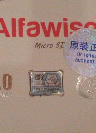 "КАРТА пам'яті ""Alfawise""- 32GB Micro SD Class 10 UHS-1 - LIGHT..."