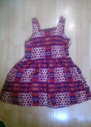 Фирменное яркое легкое платье сарафан m-l для дачи или дома
