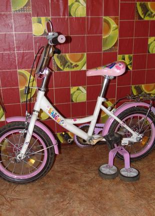 Велосипед для девочки 14 дюймов
