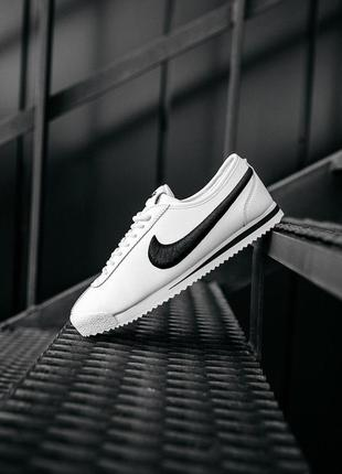 "Nike cortez ""white/black""  мужские стильные кроссовки"