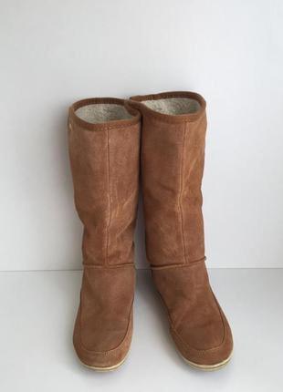 Замшевые сапоги без каблука frenzy 24 cm