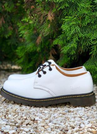 👟 туфли мужские dr. martens 1461 white / наложенный платёж bs👟