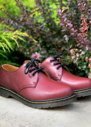 👟 туфли мужские dr. martens 1461 cherry / наложенный платёж bs👟