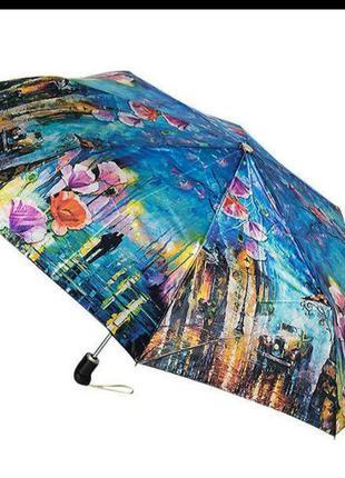 Зонт женский полный автомат zest 83744  цветы и дождь