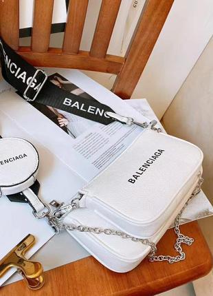 Женская сумка баленсиага  balenciaga 3в1 в расцветках