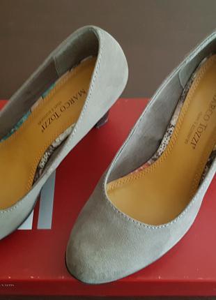 Весенние туфли на каблуке бежевого цвета 8 см