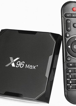 Приставка X96 Max Plus, 4/64 GB, Amlogic S905X3, Android TV Box