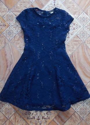 Гипюровое платье на девочку 7-8 лет