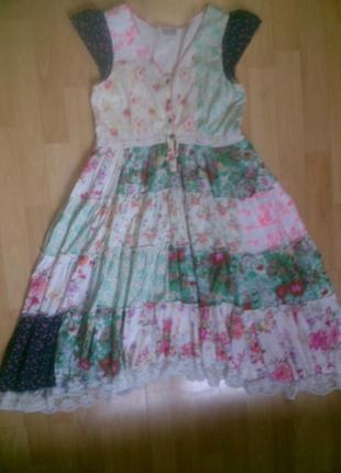 Фирменное летнее платье 12-13 лет