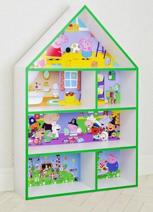 Детская полка для игрушек и книг PLK-B-7G Свинка Пеппа