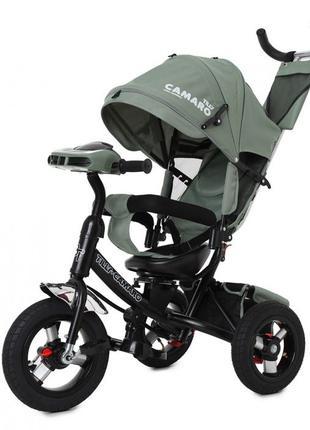 Трехколесный велосипед коляска Camaro. Велоколяска. Надувные к...