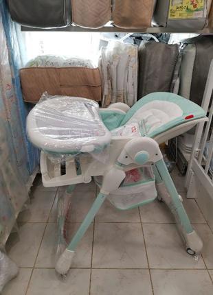 Стульчик столик для кормления ребенка CARRELLO Toffee Каррелло...