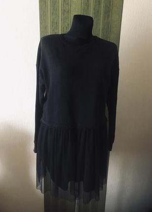 Брендовое платье с юбкой фатин