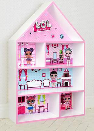 Детская полка для игрушек и книг PLK-B-11 Куклы LOL