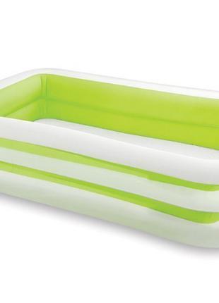 Детский надувной бассейн Intex 56483, зеленый «Морская волна», 26