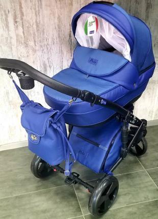 Универсальная коляска 2 в 1 Polo синяя