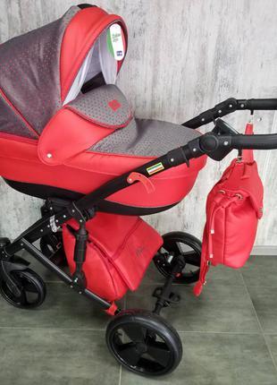 Универсальная коляска 2 в 1 Polo красная