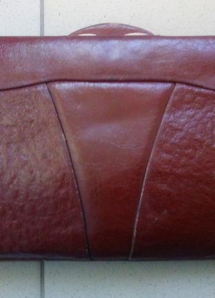 Винтажный кожаный клатч