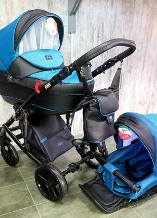 Универсальная коляска 2 в 1 Polo голубая