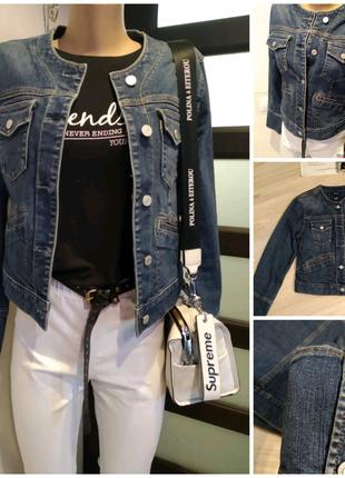 Шикарный стильный джинсовый пиджак жакет блейзер кардиган куртка