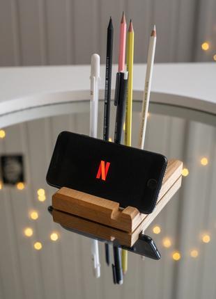 Деревянная подставка под телефон/планшет, держатель