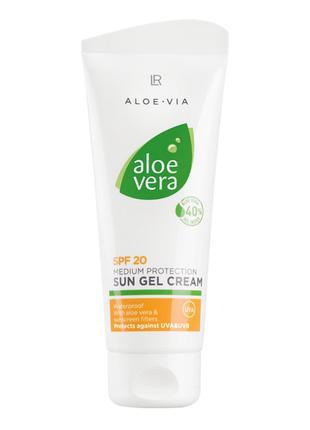 LR Aloe Via Aloe Vera Сонцезахисний крем-гель SPF 20
