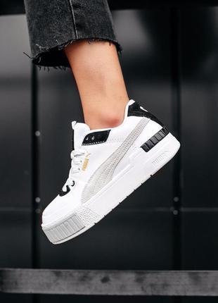Женские кроссовки cali sport mix white black