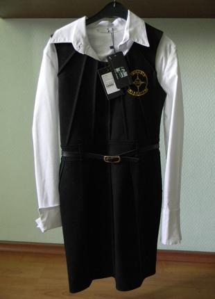 Школьная форма. Сарафан с блузкой для старшеклассницы