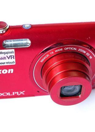 Фотоаппарат Nikon Coolpix S3500 - 20 Мп - HD - Короб,Докум -Идеал